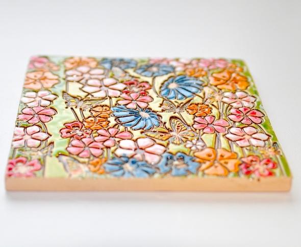 Роспись керамики глазурями